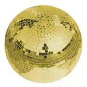 Disco Ball GOLDIE with Genuine Glass Facets, Ø 30cm, gold