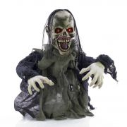 Halloween Zombie / Undead ERNEST with scary sounds, motion function, LEDs, 105cm